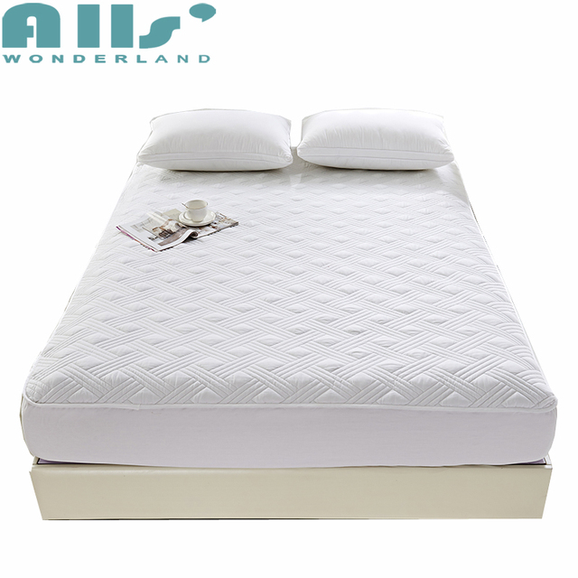 Mattress Protector 100 Cotton Fabric Microfiber Filler Quilted Ed Sheet With Elastic Full Cover To Protect Bed