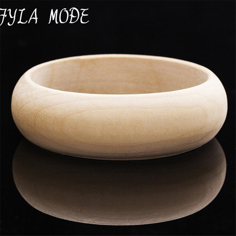 100 Large Size 6.5cm Inner Diameter DIY Unfinished Wooden Bangles For Painting 2cm Wide Bangle Bracelet Student Jewelry 20g/pcs