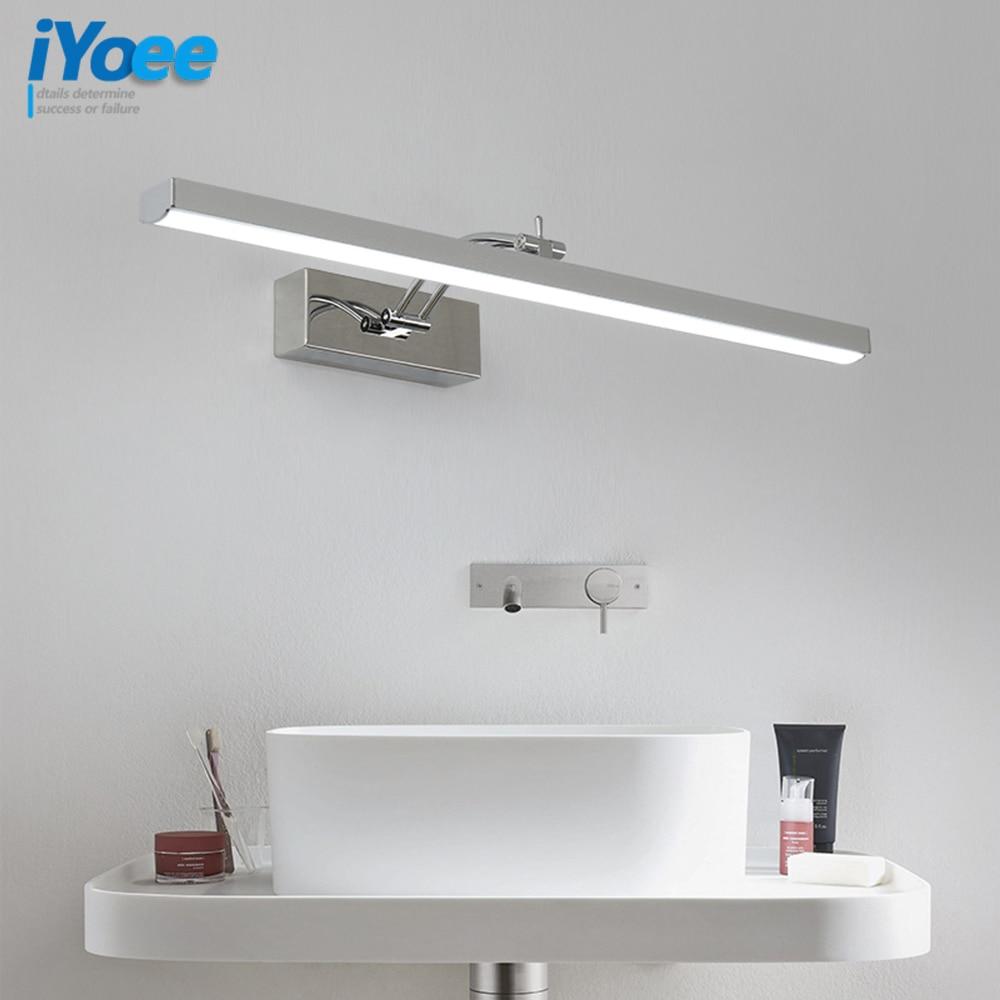 Koupelnové LED nástěnné svítilny do umyvadla zrcadla Koupelnové nástěnné nástěnné umyvadlo na zeď Svítidla IC Driver 110 / 220V