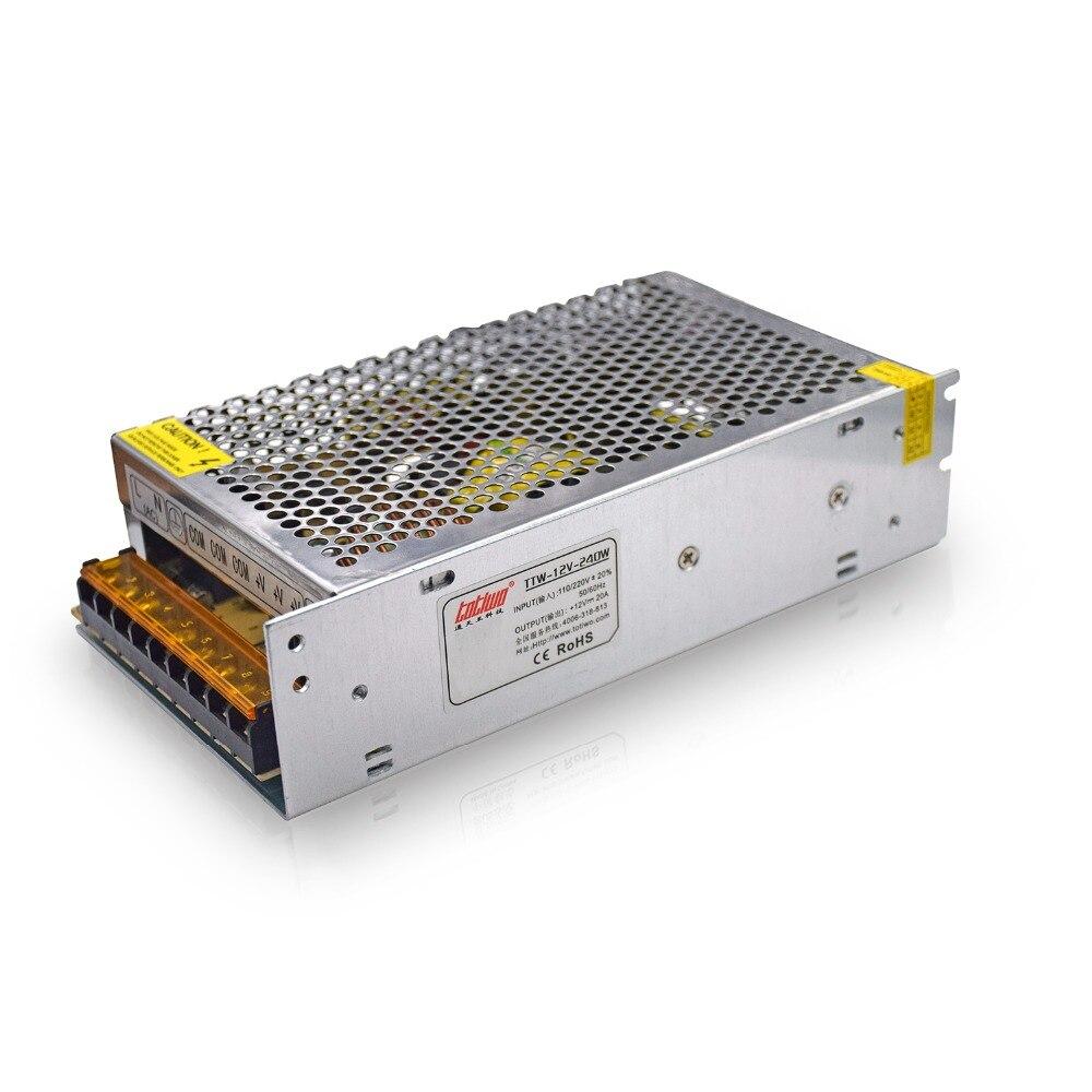 240W 12V 20A 110V 220V AC/DC Power Supply Charger Transformer Adapter