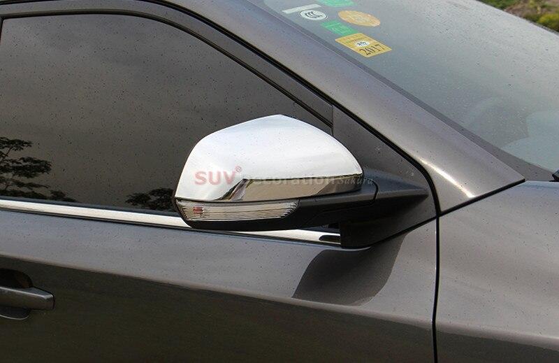 espelho retrovisor do carro styling acessorios de plastico abs cove 2 pcs 02