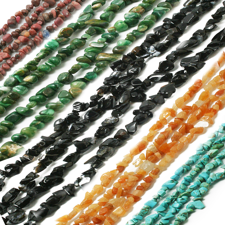 Natural 5-8mm Freeform Chips Jewelry Making loose gemstone beads strand 16/""