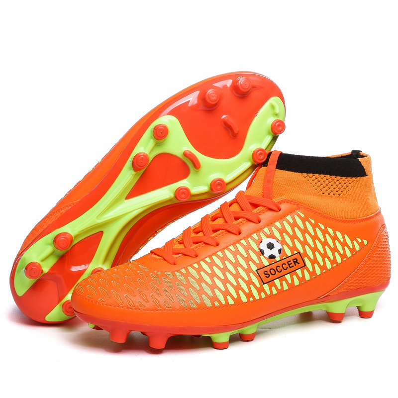 Adult high ankle soccer shoes Fly man football shoes kids boys New superfly soccer  cleats boots football trainers Free Shipping-in Soccer Shoes from Sports ... 10e3107727f5