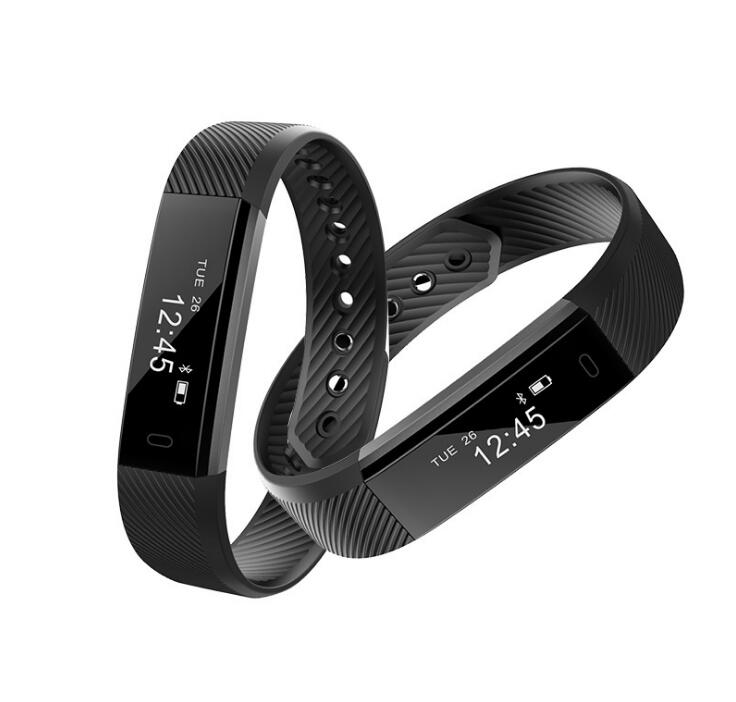 ID115 Bluetooth Android Smart Bracelet Pedometer Fitness Tracker Steps Counter S