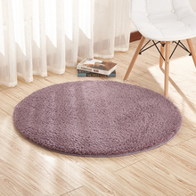 1 Piece Comfortable Thick Carpet For Living Room Large Round Yoga Mat Solid Simple Rug On 9 Colors Available