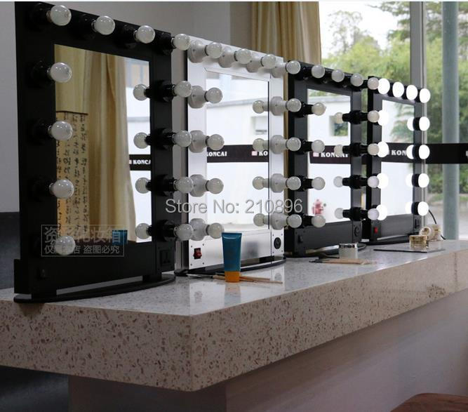 Professional Hollywood style Aluminum makeup mirror Box with lights artist cosmetic case with bulbs Case-in Cosmetic Bags u0026 Cases from Luggage u0026 Bags on ... & Professional Hollywood style Aluminum makeup mirror Box with lights ...