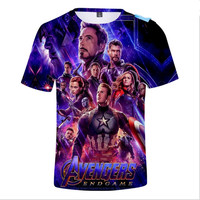 2019 Nieuwe Avengers Endgame Jongens t-shirt 3D print t-shirts Korte Mouw Meisjes T-shirt Tops Tee kinderkleding Kinderen kleding 3-12Y