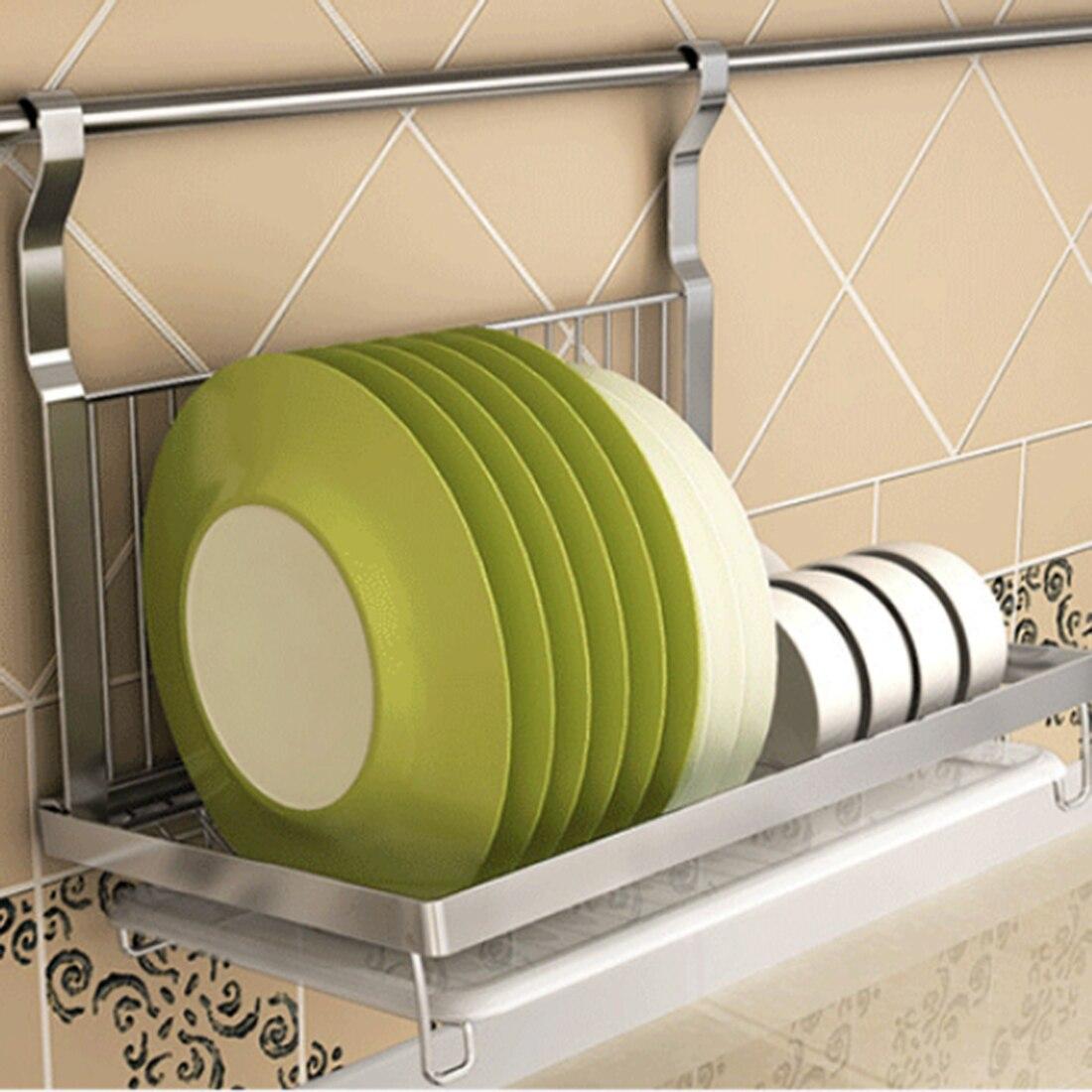 Etagère à vaisselle suspendue pliante en acier inoxydable égouttoir à cuvette assiettes organisateur vaisselle de cuisine etagère organisateur de cuisine