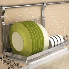 Plegable de acero inoxidable colgante de Dish Rack de drenaje de Rack placas organizador vajilla cocina Stoarge organizador de la cocina del estante