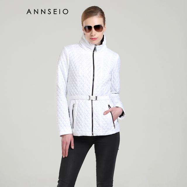 Annseio 2016 nuevo estilo de las mujeres de moda abrigo de ocio breve párrafo chaqueta de algodón acolchado venta caliente slim down chaqueta caliente a8717-2