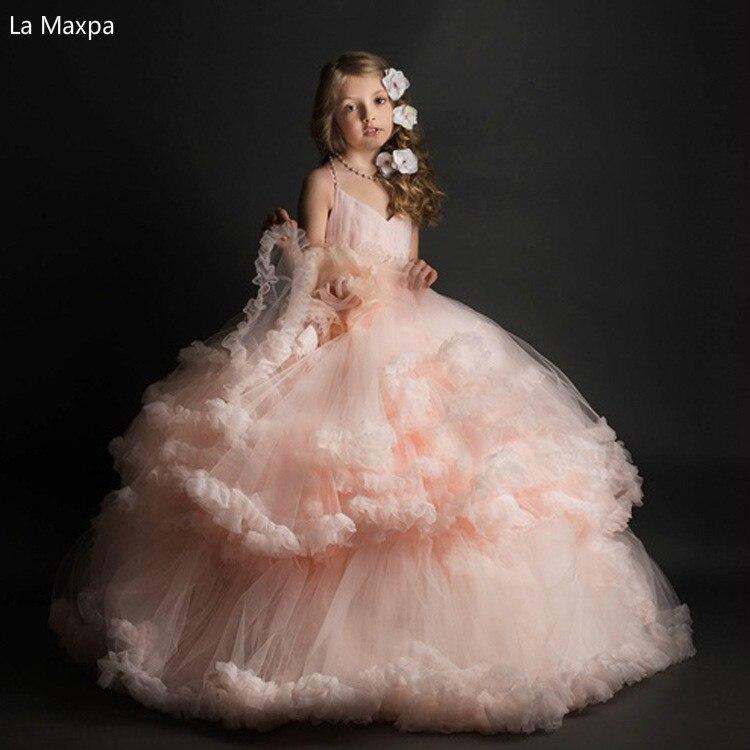 Детское платье принцессы без рукавов платье пачка для розовый цветок сетки Костюмы Обувь для девочек Подарки на день рождения Танцевальная