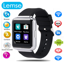 Q1 Android 5.1 Smart Watch 512MB + 4GB  WIFI 3G Google Voice GPS Map Bluetooth Smartwatch Phone Wristwatch Support NANO SIM