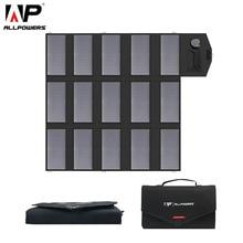 ALLPOWERS Portable Solar Panel Charger 100W 18V 12V Foldable Solar Panel Solar Battery Charger for iPhone Laptop Cellphones цена