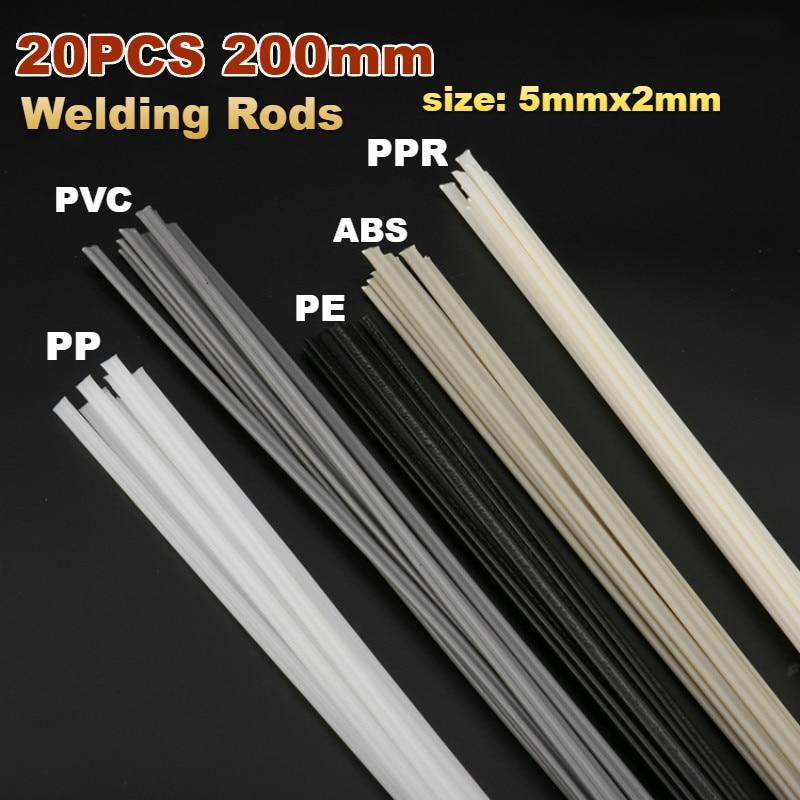 HDPE plastic welding rods black 20pcs //triangular shape// 3mm