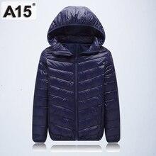 Nueva Marca caliente de alta calidad 2018 invierno Niño niño abajo Parka chaqueta  niña grande delgada 1fa0ad0f4c74c