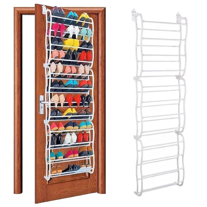 Door Hanging Shoe Rack.Us 11 66 49 Off 12 Layer 36 Pair Shoe Cabinet Door Hanging Shoe Rack Hook Shelf Rack Holder Storage Organizer Cabinet In Shoe Racks Organizers