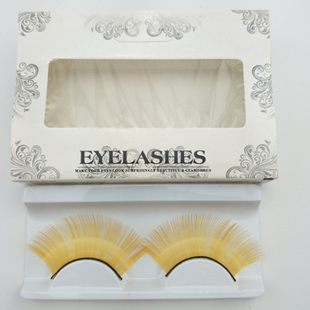 Yellow Color Long Lashes Costume Party Halloween Stage Cosplay Eyelashes Exaggeration Dramatic Eyelash Extension Makeup Tools