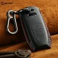KEYYOU из натуральной кожи Автомобильный ключ чехол для ключей для автомобиля Audi A1 A3 A4 A5 A6 A7 A8 Quattro Q3 Q5 Q7 2009 2010 2011 2012 2013 2014 2015