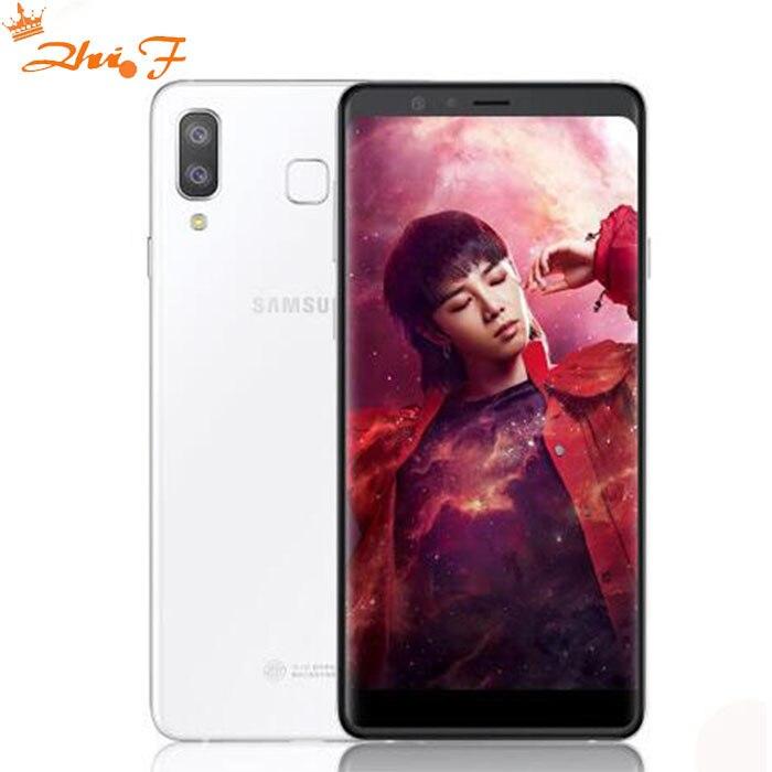 Samsung Galaxy Galaxy A9 G8850 4g LTE Mobile Téléphone 6.3 4 gb RAM 64 gb ROM Android 8.0 double Arrière Caméra 16MP + 24MP Téléphone