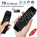 T5 2.4 Г Беспроводной Air Mouse с Микрофоном Универсальный Пульт Дистанционного Управления, Клавиатура USB Беспроводной Приемник С ИК Обучения Для Smart TV Box T3