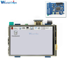3.5 インチ液晶 HDMI USB タッチスクリーンリアル Hd 1920 × 1080 lcd ディスプレイモジュールの物理的な解像度 480 × 320 raspberri ため 3 モデル B