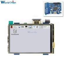 3.5 cal LCD HDMI ekran dotykowy usb prawdziwe HD 1920x1080 moduł wyświetlacza LCD rozdzielczość fizyczna 480x320 dla Raspberri 3 Model B