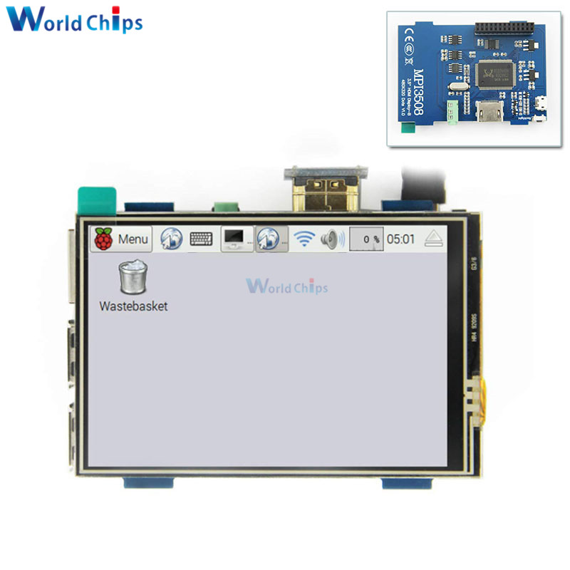 3.5 Inch LCD HDMI USB Touch Screen Real HD 1920x1080 LCD Display Module Physical Resolution 480x320 For Raspberri 3 Model B