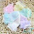 6 par/lote de algodão meias de verão respirável variedade recém-nascido sólida meias bebê infantil para 0 - 12 mês