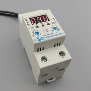 Image 3 - 60A 220V adjustable automatic reconnect over voltage and under voltage protection device relay with Voltmeter voltage monitor