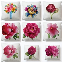 Fresh Style Home Decor Cushion Cover Flower Throw Pillow For Sofa Mediterranean Case Mothers Day