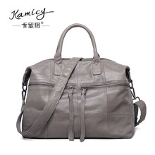 Women s handbag 2018 leather big one shoulder bag fashionable tassel and the new popular tote