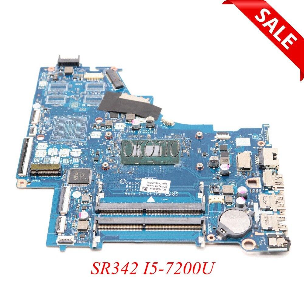 NOKOTION CKL50 LA-E801P Laptop motherboard For HP Pavilion 15-BS SR342  I5-7200U Main board 924751-601 924751-001 WORK