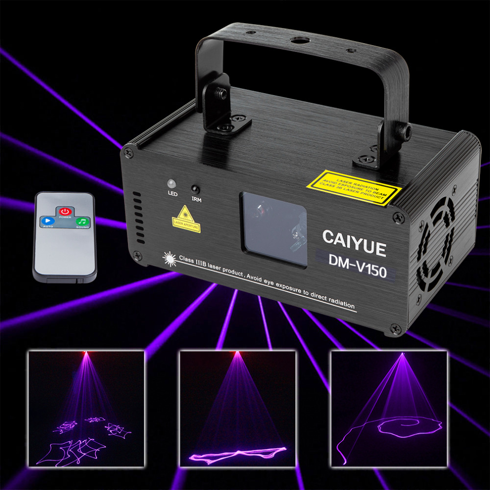DMX 512 150mwRemote Purple Laser Stage Light Scanner DJ Projector Party Display Light Effect Christmas Party Disco Display Light