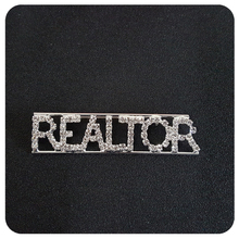 """Realtor"" Occupation Crystal Letters Womens Brooch"