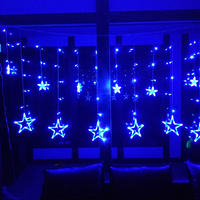 2M Christmas Lights Romantic Fairy Star AC 220V LED Curtain String Lighting For Holiday Wedding Garland