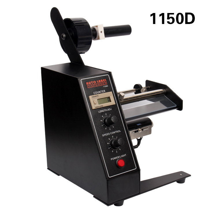 1150D Automatic Label Dispenser Machine 4-140mm Auto Separator/ Rewinder for Self-adhesive Labels/ Bar Codes Peeling/ Separating ru eu no tax automatic lt 60 plane self adhesive label machine