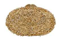Ball Shape Party Purse Ladies Purse Stylish Golden Crystal Evening Bag 88331