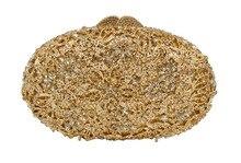 Ball Form Party Geldbörse Damen Geldbörse Stilvolle Goldene Kristall Abendtasche 88331