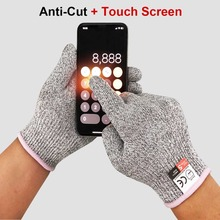Touch-screen Anti-cut Gloves Safety Cut Proof Stab Resistant Stainless Steel Wire Metal Mesh Kitchen Butcher Cut-Resistant