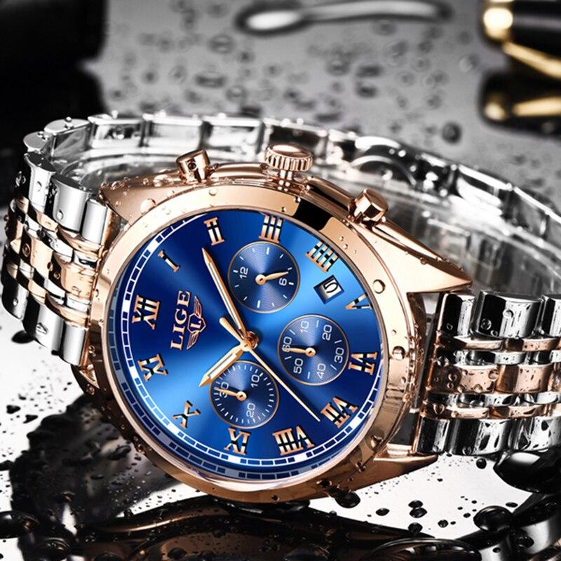 Mens Watches LIGE Top Brand Luxury Men Waterproof Quartz Watch Men's Fashion Business Watches Relogio Masculino Relojes Hombre