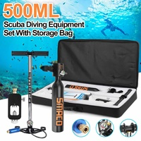 SMACO 5Pcs Black Mini Scuba Diving Pump Equipment Spare Diving Breath Underwater For Diving Enthusiast Oxygen Tank Snorkel Bag