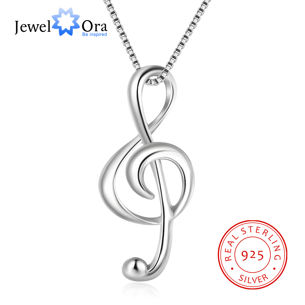925 Sterling Silver Musical Note Necklaces & Pendants Elegant Pendant Necklace Women Gifts For Girlfriend (JewelOra NE100355)