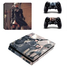 Game NieR Automata PS4 Slim Skin Sticker Decal Vinyl for Sony Playstation 4 Console and 2 Controllers PS4 Slim Skin Sticker