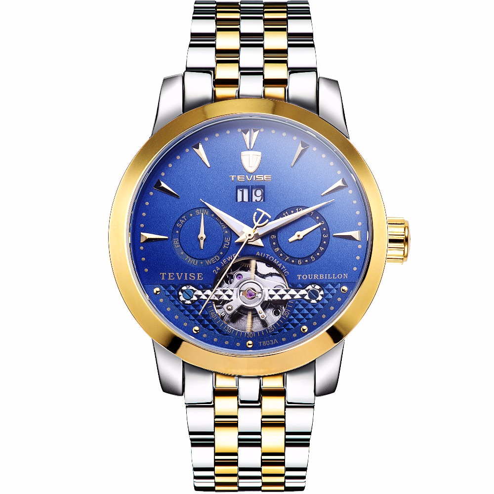 TEVISE New 2018 Brand Watch Men Top Luxury Automatic Mechanical Watch Men Stainless Steel Clock Business Watches Relogio Masculi цена и фото