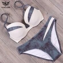 NAKIAEOI 2019 новый сексуальный комплект бикини, пуш ап купальники, женский купальник, лоскутный купальник, летняя пляжная одежда для плавания S ~ 2XL