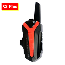 X3 Plus Excellent Bluetooth BT Motorcycle Motorbike Helmet 1.5-3KM Intercom Interphone Headset IP54 Waterproof Unlimited Number