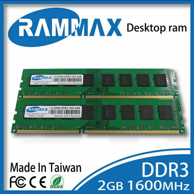 LO-DIMM1600Mhz PC3-12800 Настольных Оперативной Памяти 2 ГБ DDR3 240-конт/CL11/Non-ECC/1.5 В работать с материнские платы для AMD/Intel PC Компьютер