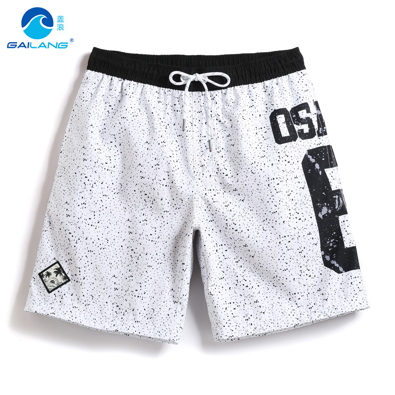 2018 summer mens Board shorts lined men swimming shorts bermuda masculina liner bagno beach surfing shorts quick dry swim