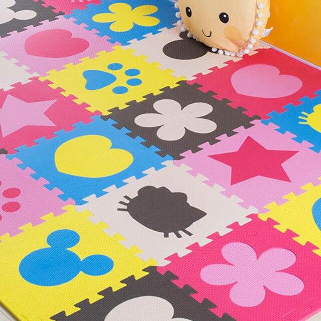 dc4ad853843 Bebé Eva espuma juego Esterillas Rompecabezas Esterillas bebé niños Alfombras  puzzle Soft piso pad juego Esterillas