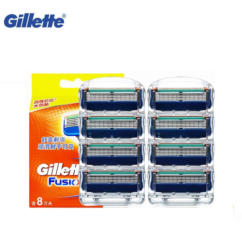 Originale Lama di Rasoio Gillette Fusion Rasoio Da Barba Lama Marca rasatura Rasoio Lame di rasoio Da Barba Lame Per La Rasatura Rasoio 8 pz